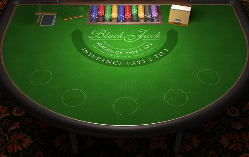 Poker escalera en la mesa